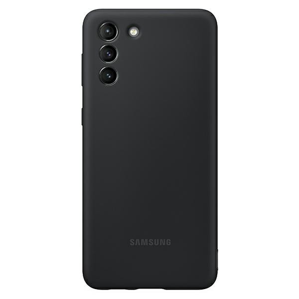 Husa Premium Originala Samsung Galaxy S21 Plus, Silicon, Invelis Alcantara Interior, Negru - Ef-pg996tb imagine itelmobile.ro 2021