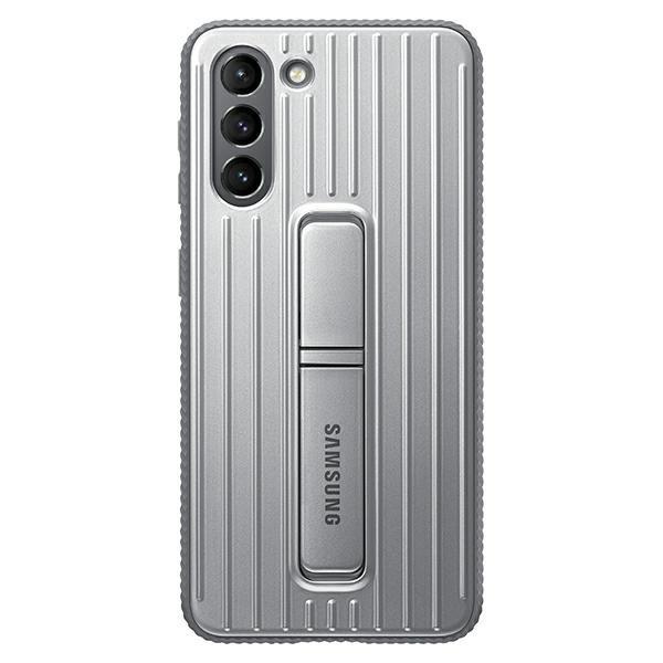 Husa Premium Originala Samsung Galaxy S21, Protective Cover Cu Stand, Gri - Ef-rg991cj imagine itelmobile.ro 2021