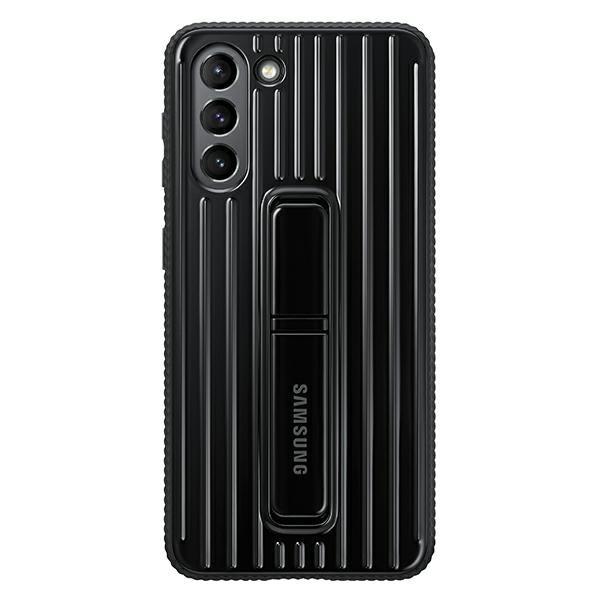 Husa Premium Originala Samsung Galaxy S21 Plus, Protective Cover Cu Stand, Negru - Ef-rg996cb imagine itelmobile.ro 2021