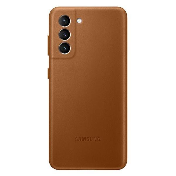 Husa Premium Originala Samsung Galaxy S21, Leather Cover, Maro - Ef-vg991la imagine itelmobile.ro 2021
