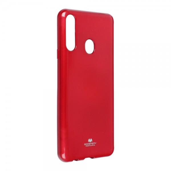 Husa Spate Jelly Case Mercury Goospery Metal Compatibila Cu Samsung Galaxy A20s, Silicon, Rosu imagine itelmobile.ro 2021
