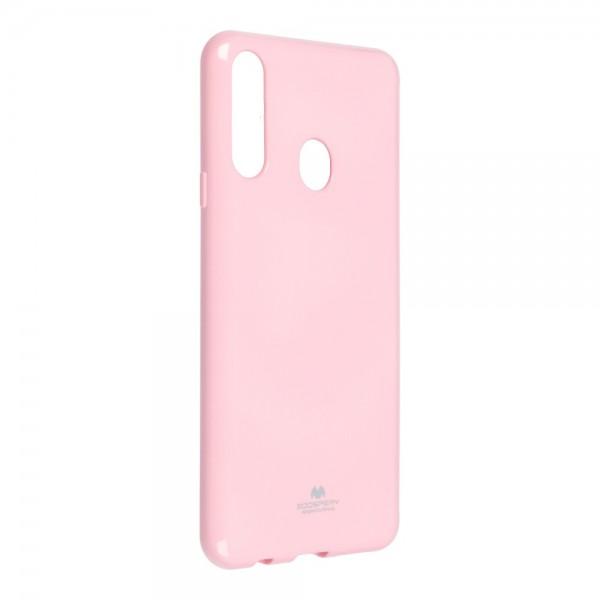 Husa Spate Jelly Case Mercury Goospery Metal Compatibila Cu Samsung Galaxy A20s, Silicon, Roz imagine itelmobile.ro 2021