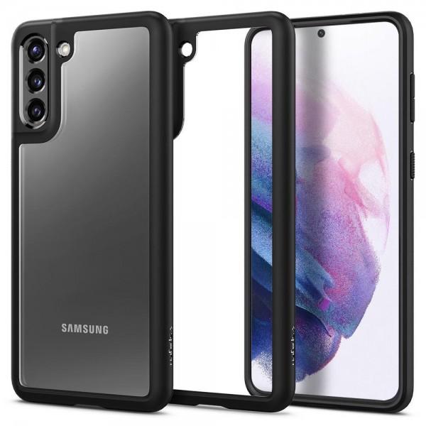 Husa Premium Spigen Ultra Hybrid Pentru Samsung Galaxy S21 Plus, Transparenta Cu Magine Neagra imagine itelmobile.ro 2021