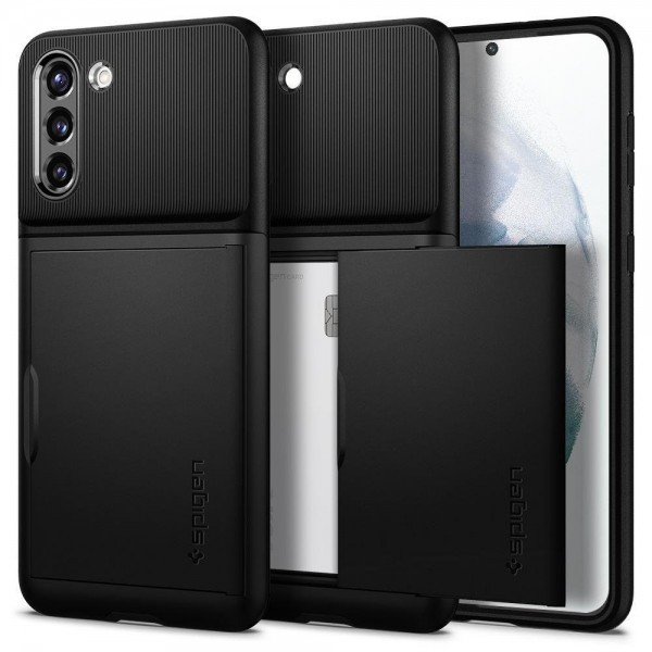 Husa Premium Spigen Slim Armor Cs Pentru Samsung Galaxy S21, Negru imagine itelmobile.ro 2021