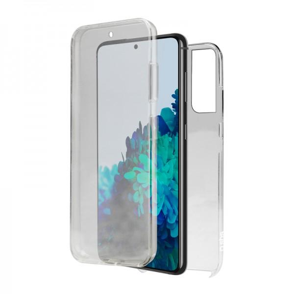 Husa 360 Grade Full Cover Upzz Case Compatibila Cu Samsung Galaxy S21, Transparenta imagine itelmobile.ro 2021