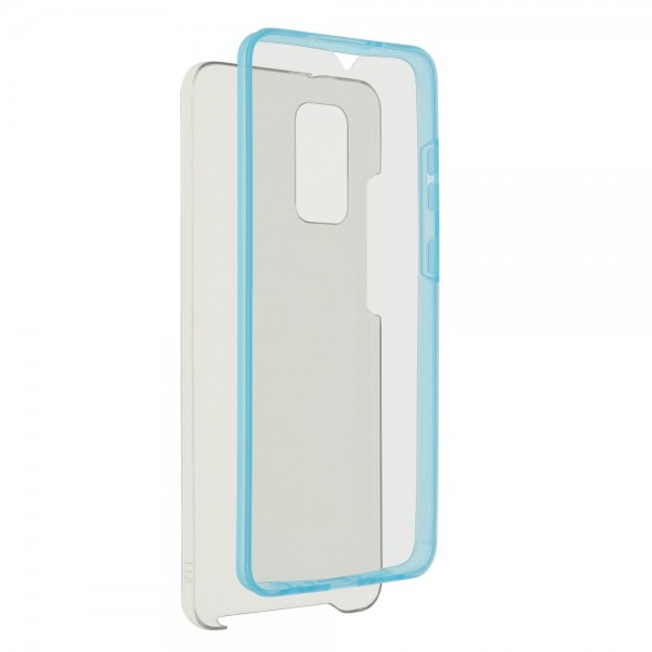 Husa 360 Grade Full Cover Upzz Case Compatibila Cu Samsung Galaxy S21 Plus, Transparenta Cu Margine Albastra imagine itelmobile.ro 2021