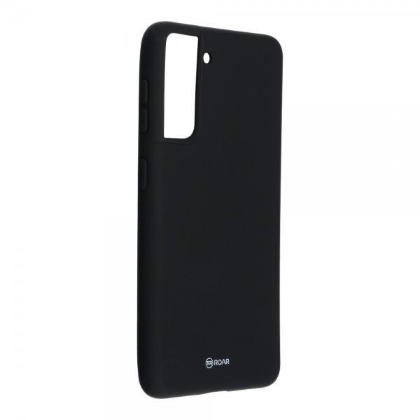 Husa Spate Silicon Roar Jelly Compatibila Cu Samsung Galaxy S21, Negru imagine itelmobile.ro 2021