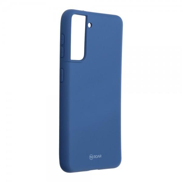 Husa Spate Silicon Roar Jelly Compatibila Cu Samsung Galaxy S21, Albastru imagine itelmobile.ro 2021