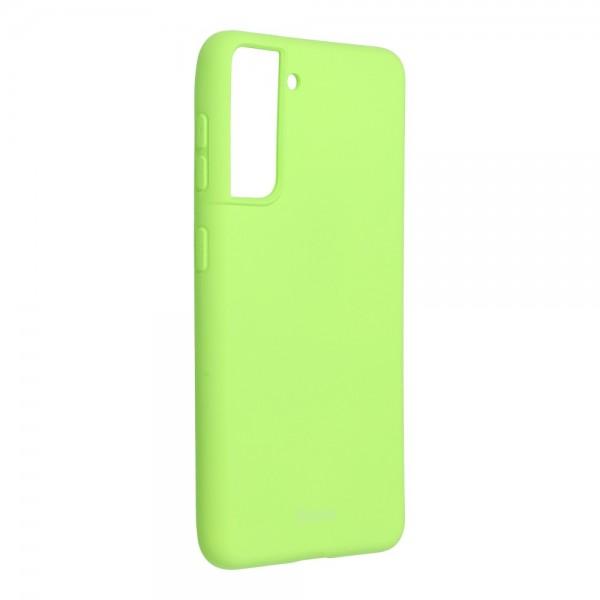 Husa Spate Silicon Roar Jelly Compatibila Cu Samsung Galaxy S21, Verde Lime imagine itelmobile.ro 2021