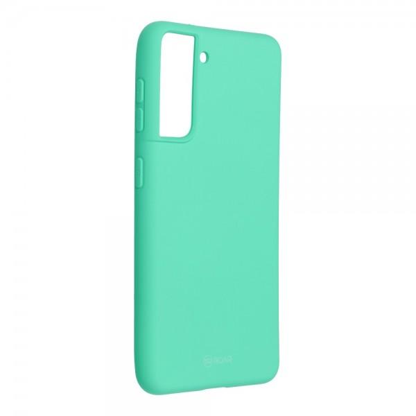 Husa Spate Silicon Roar Jelly Compatibila Cu Samsung Galaxy S21, Verde Menta imagine itelmobile.ro 2021
