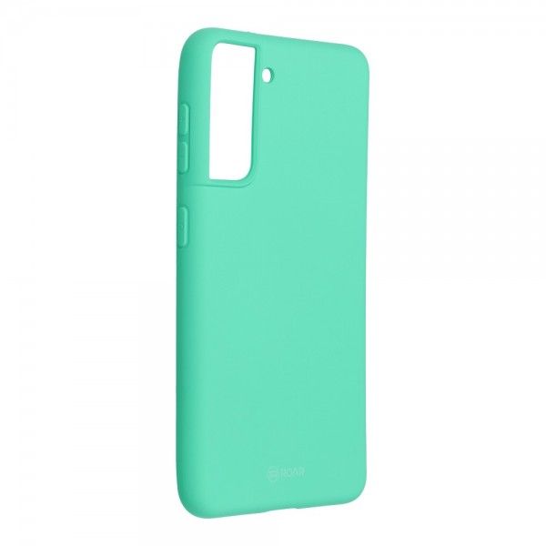 Husa Spate Silicon Roar Jelly Compatibila Cu Samsung Galaxy S21 Plus, Verde Menta imagine itelmobile.ro 2021