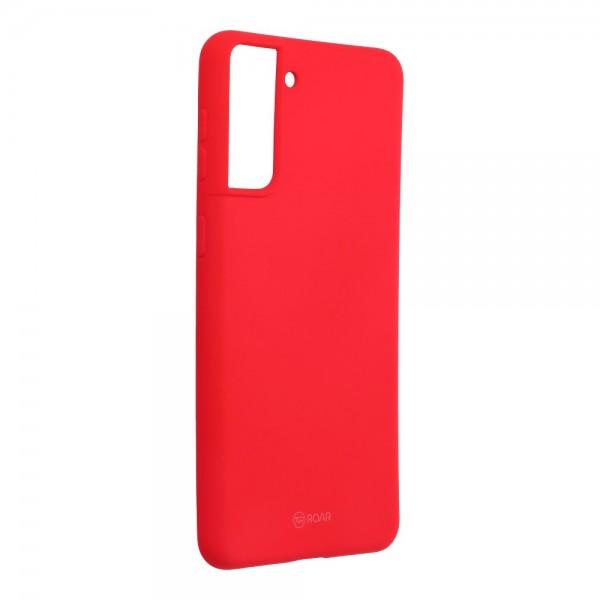 Husa Spate Silicon Roar Jelly Compatibila Cu Samsung Galaxy S21, Roz imagine itelmobile.ro 2021
