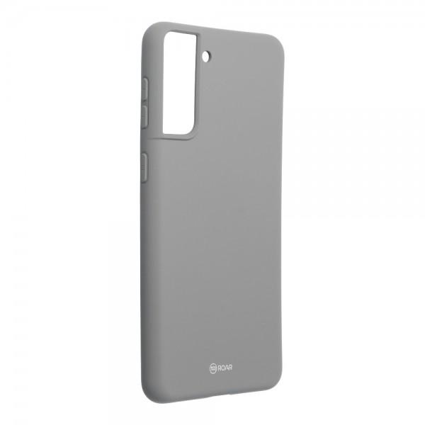 Husa Spate Silicon Roar Jelly Compatibila Cu Samsung Galaxy S21, Gri imagine itelmobile.ro 2021