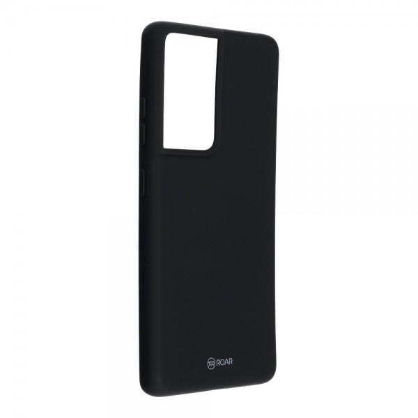 Husa Spate Silicon Roar Jelly Compatibila Cu Samsung Galaxy S21 Ultra, Negru imagine itelmobile.ro 2021