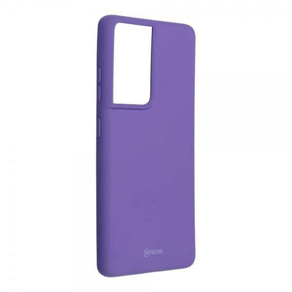 Husa Spate Silicon Roar Jelly Compatibila Cu Samsung Galaxy S21 Ultra, Mov imagine itelmobile.ro 2021