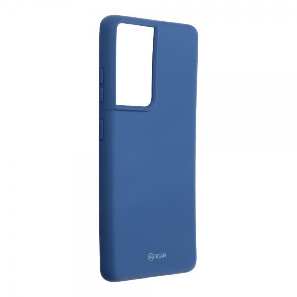 Husa Spate Silicon Roar Jelly Compatibila Cu Samsung Galaxy S21 Ultra, Albastru imagine itelmobile.ro 2021