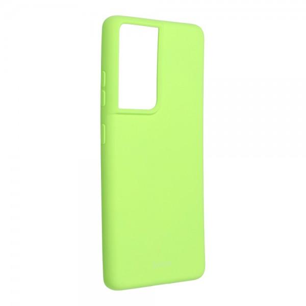 Husa Spate Silicon Roar Jelly Compatibila Cu Samsung Galaxy S21 Ultra, Verde Lime imagine itelmobile.ro 2021
