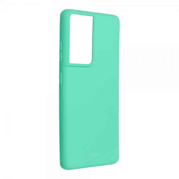 Husa Spate Silicon Roar Jelly Compatibila Cu Samsung Galaxy S21 Ultra, Verde Menta imagine itelmobile.ro 2021