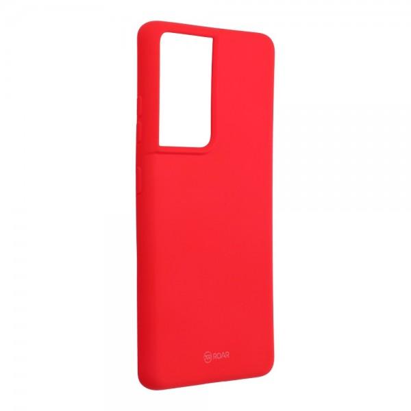 Husa Spate Silicon Roar Jelly Compatibila Cu Samsung Galaxy S21 Ultra, Roz imagine itelmobile.ro 2021