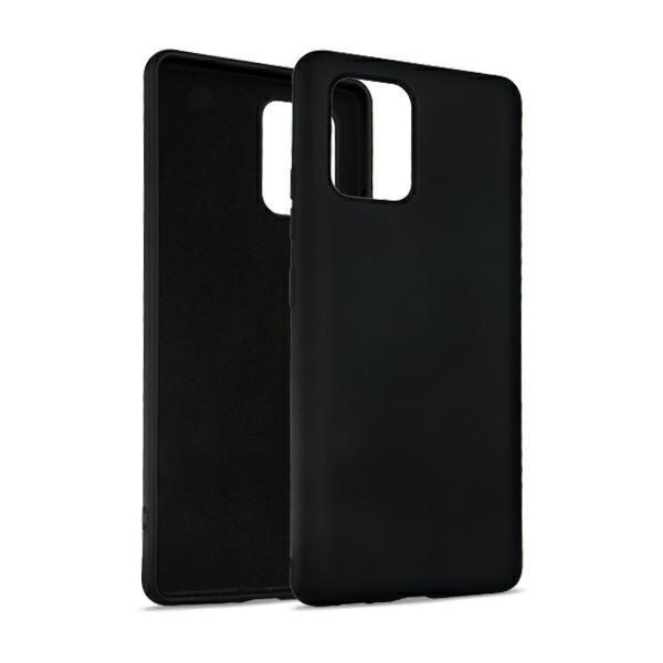 Husa Premium Upzz No Logo Soft Silicon Compatibila Cu Samsung Galaxy S10 Lite, Invelis Alcantara La Interior ,negru imagine itelmobile.ro 2021