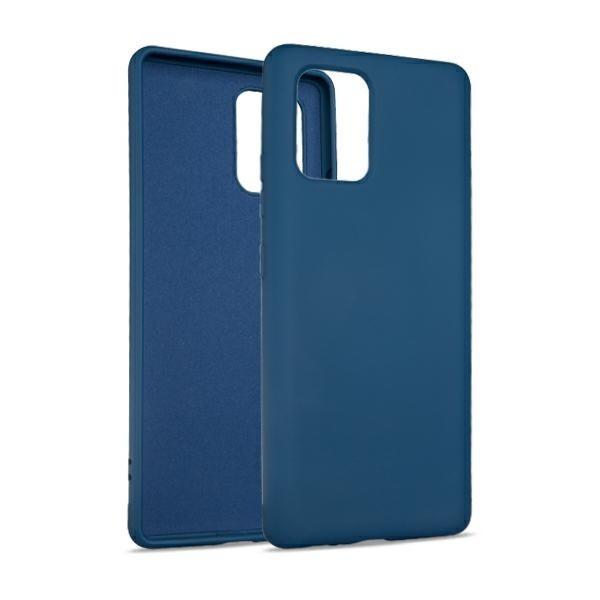 Husa Premium Upzz No Logo Soft Silicon Compatibila Cu Samsung Galaxy S10 Lite, Invelis Alcantara La Interior, Albastru imagine itelmobile.ro 2021