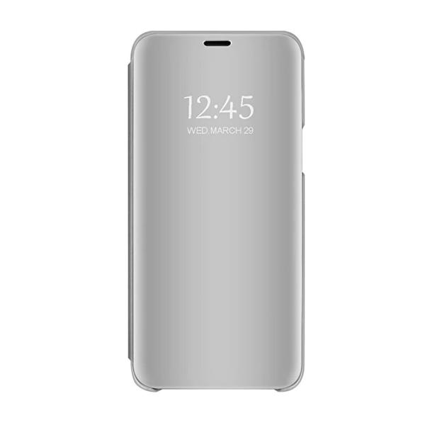 Husa Tip Carte Mirror Compatibila Cu Samsung Galaxy A12, Silver imagine itelmobile.ro 2021