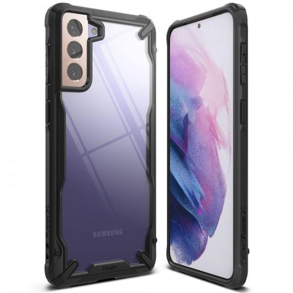 Husa Premium Ringke Fusion X Pentru Samsung Galaxy S21, Negru imagine itelmobile.ro 2021