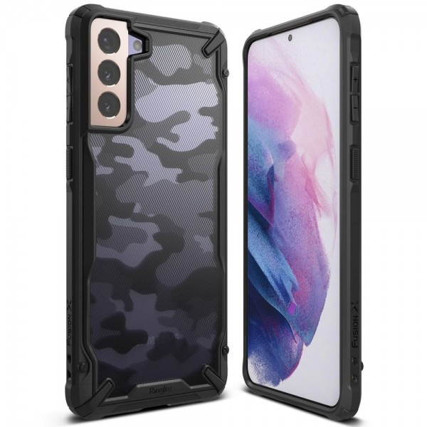 Husa Premium Ringke Fusion X Pentru Samsung Galaxy S21+ Plus, Camo imagine itelmobile.ro 2021