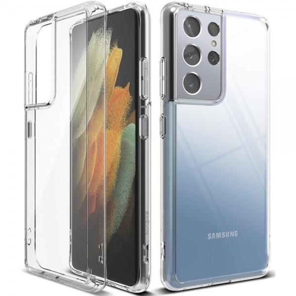 Husa Premium Ringke Fusion Pentru Samsung Galaxy S21 Ultra, Transparenta imagine itelmobile.ro 2021
