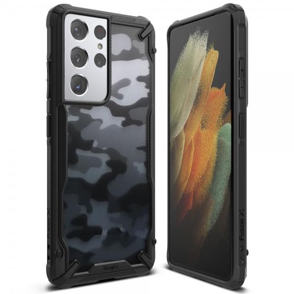 Husa Premium Ringke Fusion Pentru Samsung Galaxy S21 Ultra, Camo imagine itelmobile.ro 2021