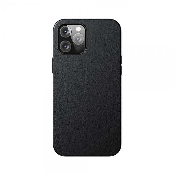 Husa Premium Piele Baseus Pentru iPhone 12 Pro Max Compatibila Cu Magsafe - Negru imagine itelmobile.ro 2021