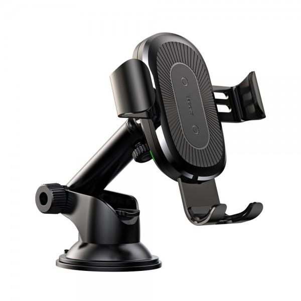Incarcator Auto Baseus Quick Charge Gravity, Wireless Qi Universal Pentru Orice Telefon Cu Incarcare Wireless, Brat Ajustabil imagine itelmobile.ro 2021