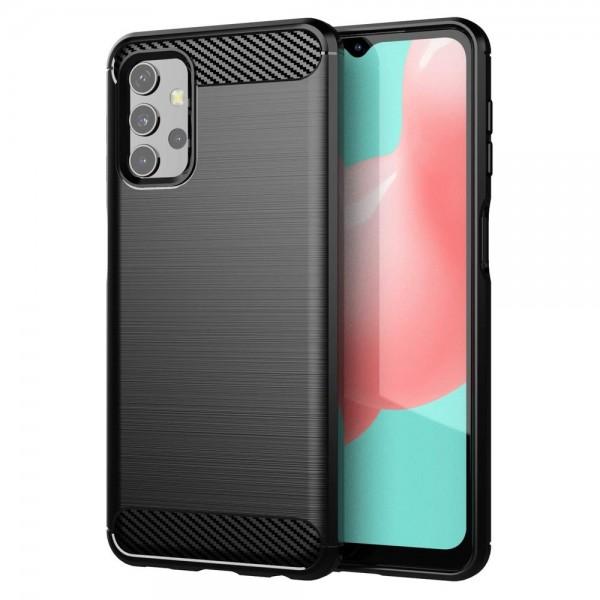 Husa Spate Upzz Carbon Pro Compatibil Cu Samsung Galaxy A32 5g, Silicon, Negru imagine itelmobile.ro 2021