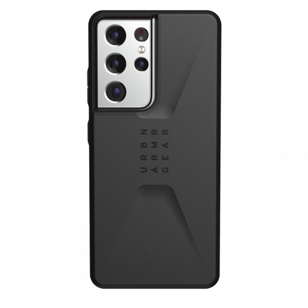 Husa Premium Urban Armor Gear Civilian Pentru Samsung Galaxy S21 Ultra, Negru imagine itelmobile.ro 2021