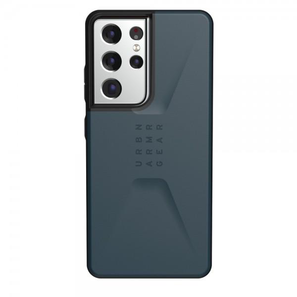 Husa Premium Urban Armor Gear Civilian Pentru Samsung Galaxy S21 Ultra, Albastru imagine itelmobile.ro 2021