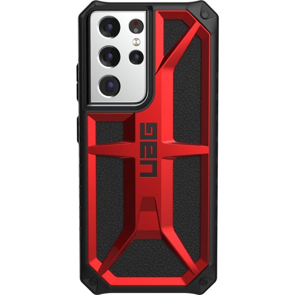 Husa Premium Urban Armor Gear Monarch Pentru Samsung Galaxy S21 Ultra, Rosu imagine itelmobile.ro 2021