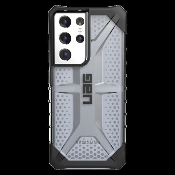 Husa Premium Urban Armor Gear Plasma Pentru Samsung Galaxy S21 Ultra, Negru Transparent imagine itelmobile.ro 2021