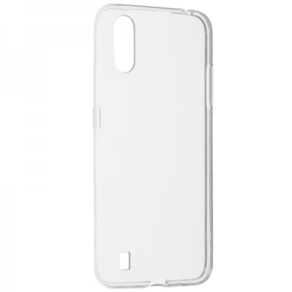 Husa Spate Slim Upzz Pentru Samsung Galaxy A01, 0.5mm Grosime, Silicon, Transparenta imagine itelmobile.ro 2021