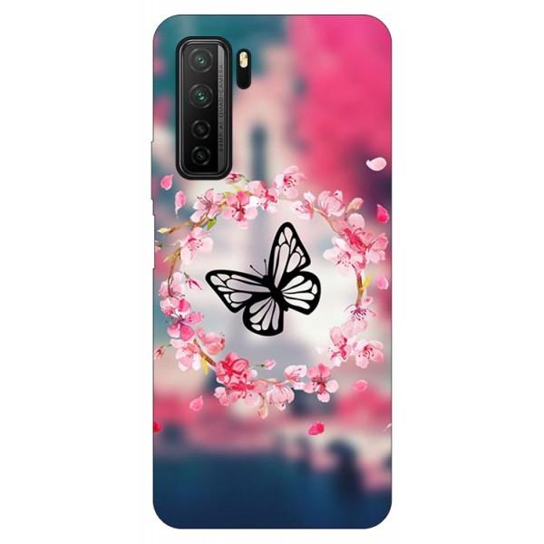 Husa Silicon Soft Upzz Print Compatibila Cu Huawei P40 Lite 5g Model Butterfly imagine itelmobile.ro 2021