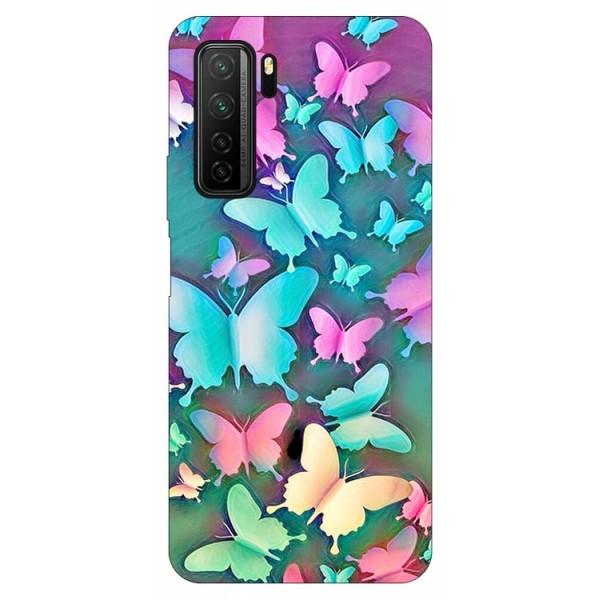 Husa Silicon Soft Upzz Print Compatibila Cu Huawei P40 Lite 5g Model Colorful Butterflies imagine itelmobile.ro 2021