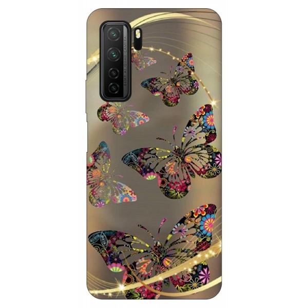 Husa Silicon Soft Upzz Print Compatibila Cu Huawei P40 Lite 5g Model Golden Butterflies imagine itelmobile.ro 2021