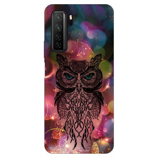 Husa Silicon Soft Upzz Print Compatibila Cu Huawei P40 Lite 5g Model Sparkle Owl imagine itelmobile.ro 2021