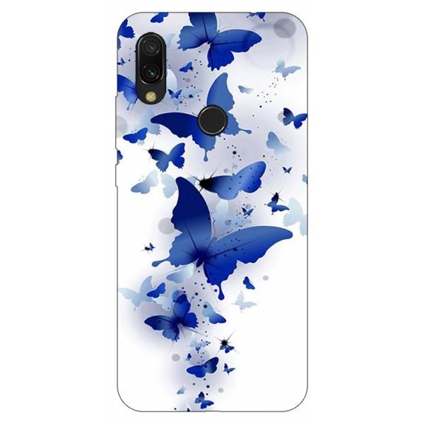Husa Silicon Soft Upzz Print Compatibila Cu Xiaomi Redmi 7 Model Blue Butterflies imagine itelmobile.ro 2021