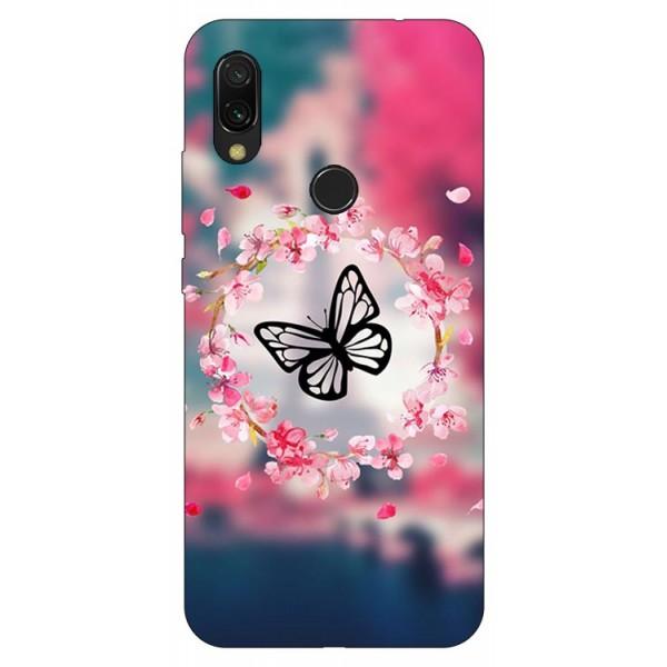 Husa Silicon Soft Upzz Print Compatibila Cu Xiaomi Redmi 7 Model Butterfly imagine itelmobile.ro 2021