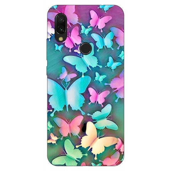 Husa Silicon Soft Upzz Print Xiaomi Compatibila Cu Redmi 7 Model Colorful Butterflies imagine itelmobile.ro 2021
