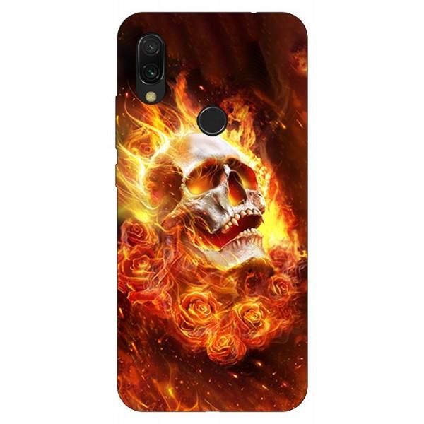 Husa Silicon Soft Upzz Print Compatibila Cu Xiaomi Redmi 7 Model Flame Skull imagine itelmobile.ro 2021