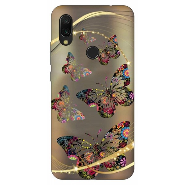 Husa Silicon Soft Upzz Print Compatibila Cu Xiaomi Redmi 7 Model Golden Butterflies imagine itelmobile.ro 2021