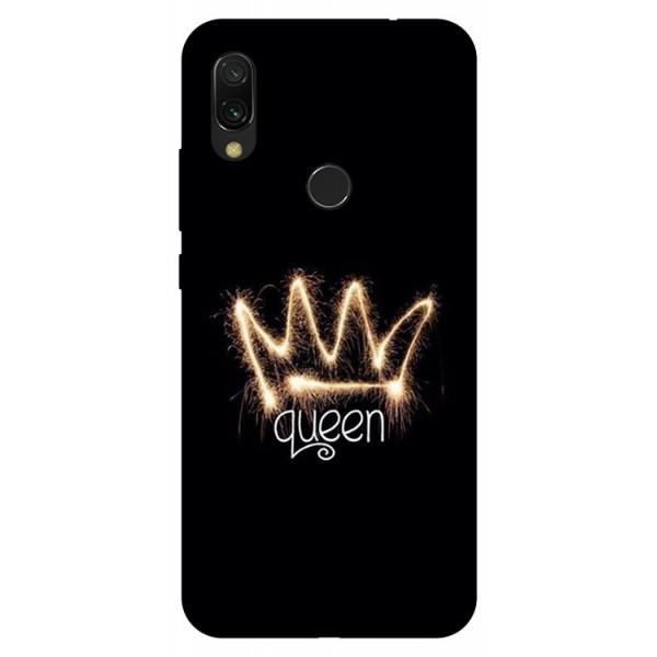 Husa Silicon Soft Upzz Print Compatibila Cu Xiaomi Redmi 7 Model Queen imagine itelmobile.ro 2021
