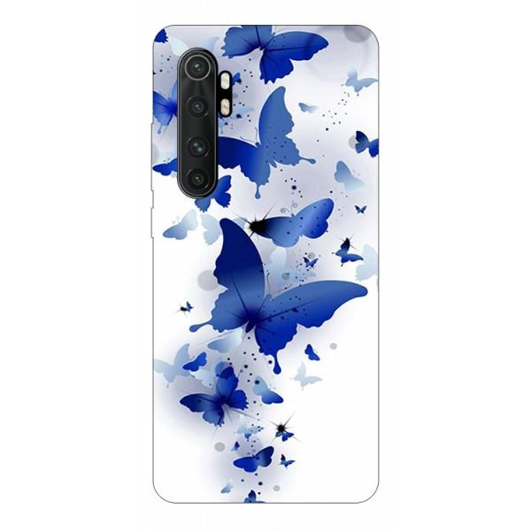 Husa Silicon Soft Upzz Print Compatibila Cu Xiaomi Mi Note 10 Lite Model Blue Butterflies imagine itelmobile.ro 2021