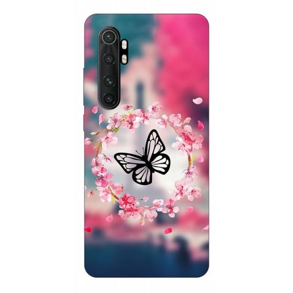 Husa Silicon Soft Upzz Print Compatibila Cu Xiaomi Mi Note 10 Lite Model Butterfly imagine itelmobile.ro 2021